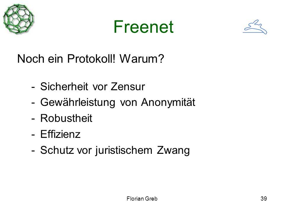 Florian Greb39 Freenet Noch ein Protokoll. Warum.