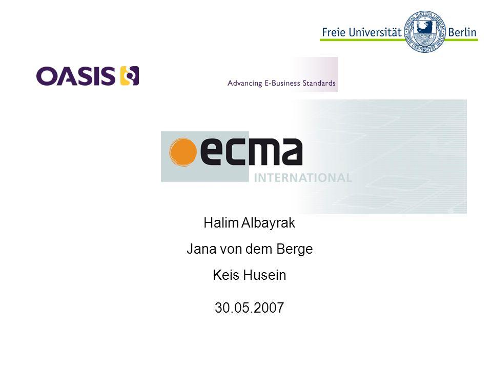 42 Informatik, OASIS und ECMA, 30.05.2007 DocBook - DTD - strukturierte Dokumente in XML oder SGML schreiben - besonders im Bereich der Computersoftware und – hardware weit verbreitet - viele Ausgabemöglichkeiten: pdf, HTML, RTF,… - Spezifikationen zu finden bei: http://www.docbook.org/specs/ http://www.docbook.org/specs/