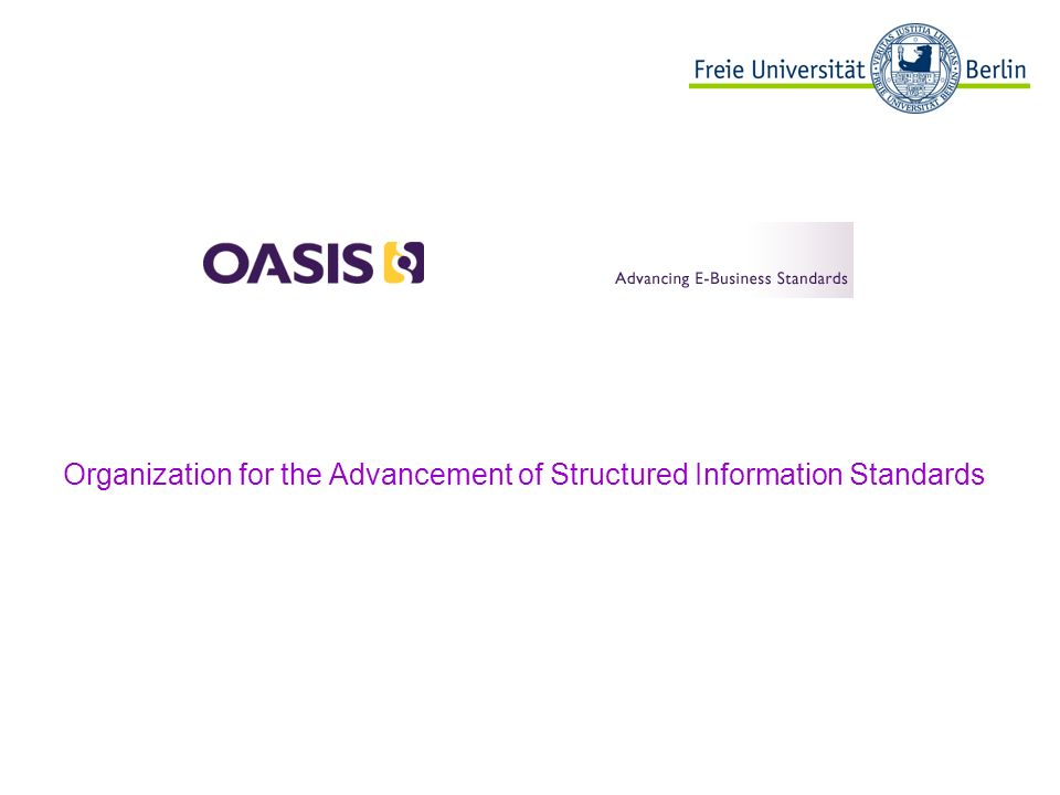Organization for the Advancement of Structured Information Standards Beispielbild