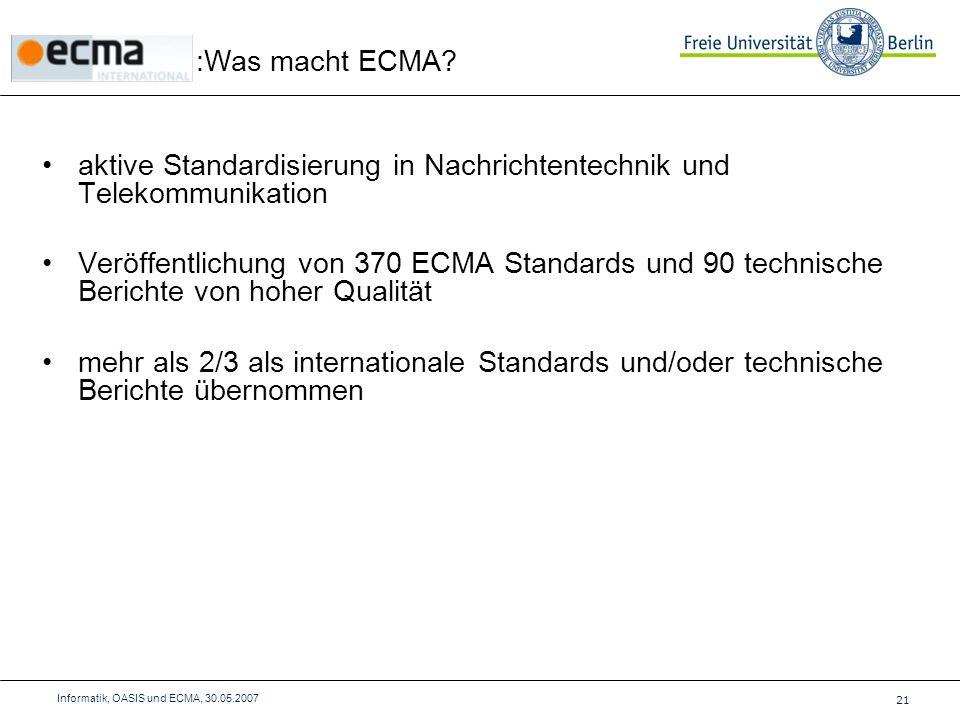 :Was macht ECMA.
