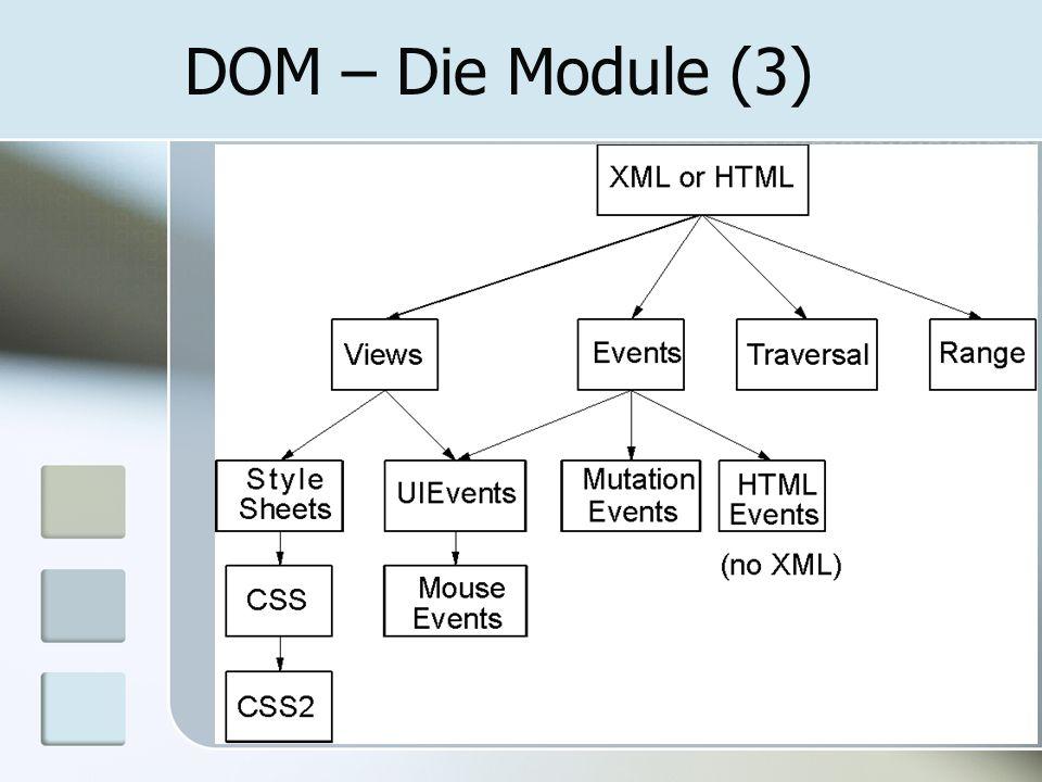 DOM – Die Module (3)