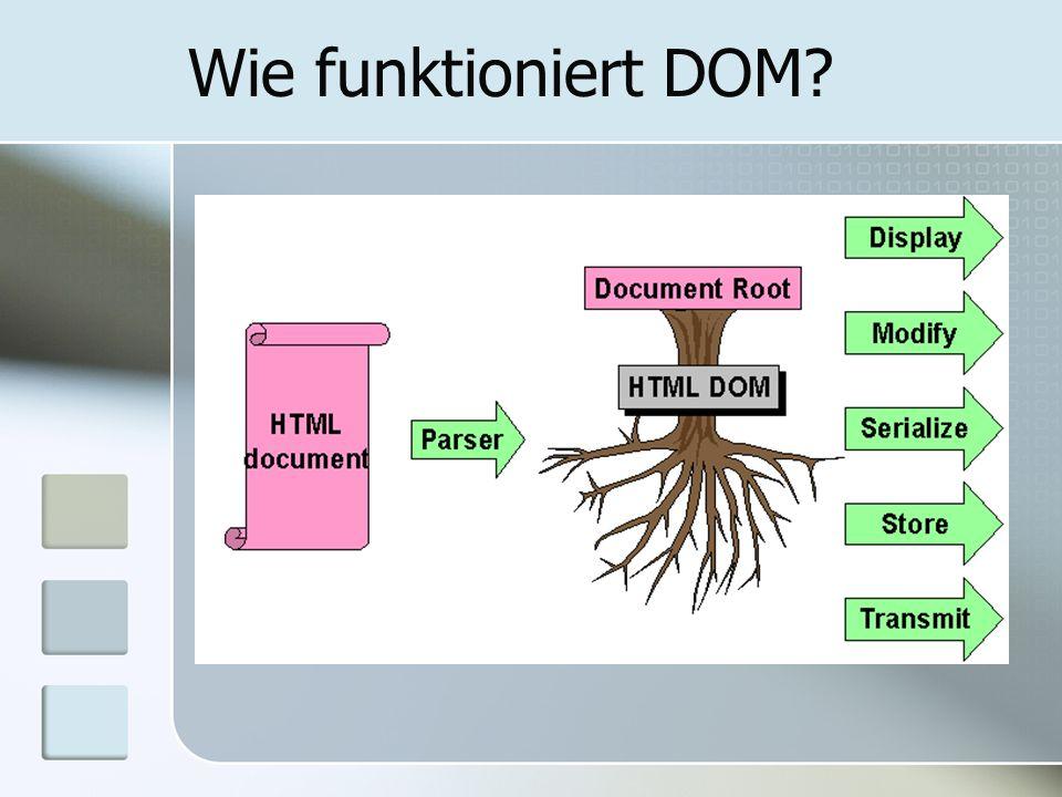 Wie funktioniert DOM?