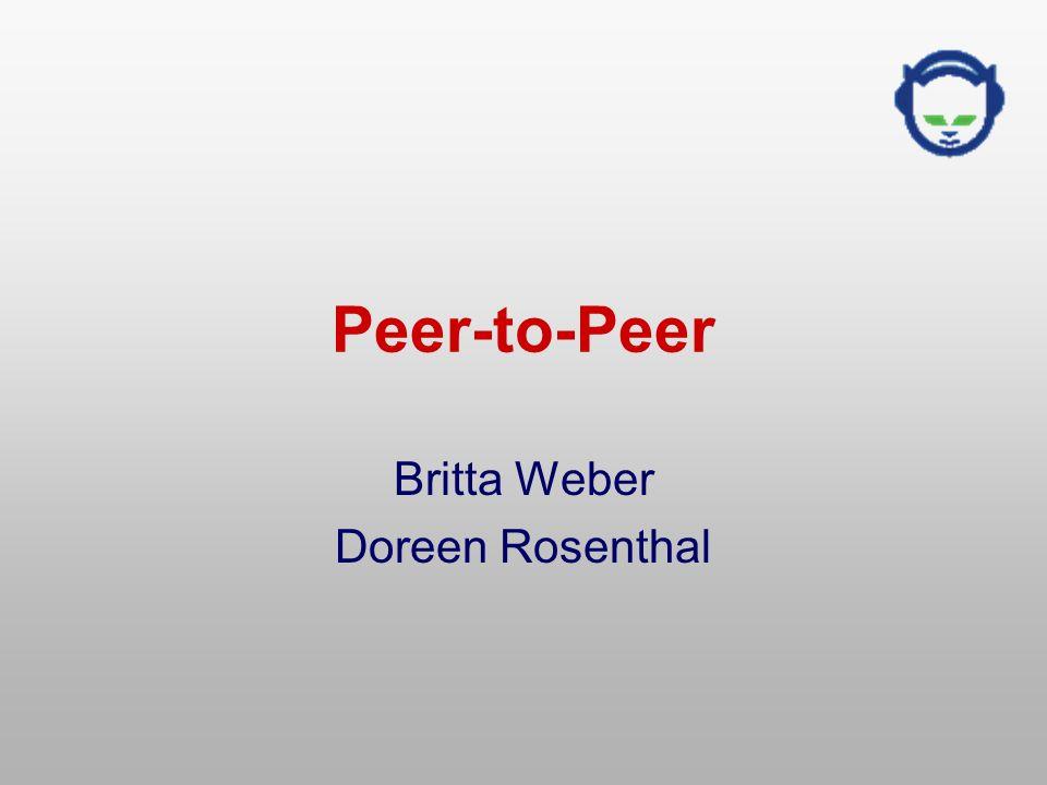 Peer-to-Peer Britta Weber Doreen Rosenthal