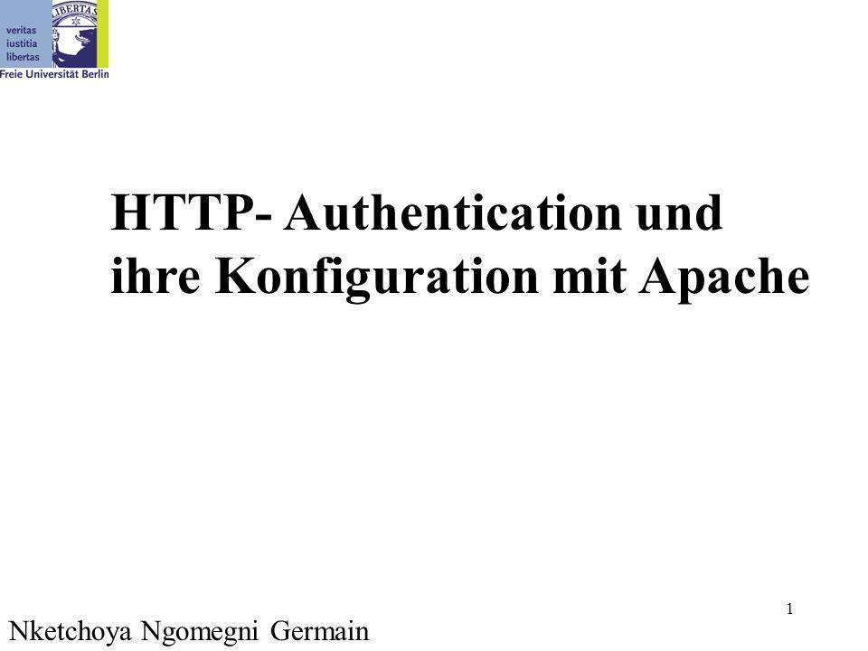 1 Nketchoya Ngomegni Germain HTTP- Authentication und ihre Konfiguration mit Apache