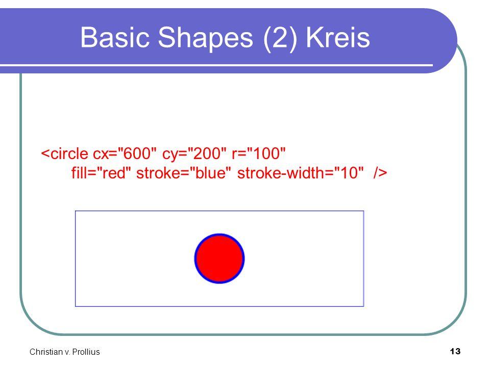 Christian v. Prollius13 Basic Shapes (2) Kreis <circle cx=