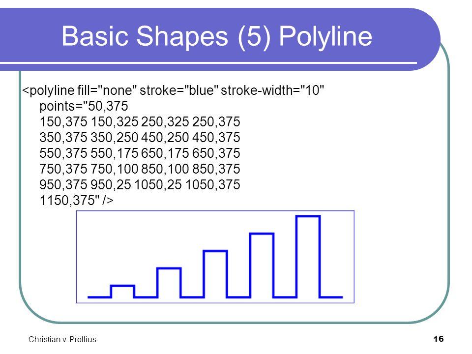 Christian v. Prollius16 Basic Shapes (5) Polyline <polyline fill=