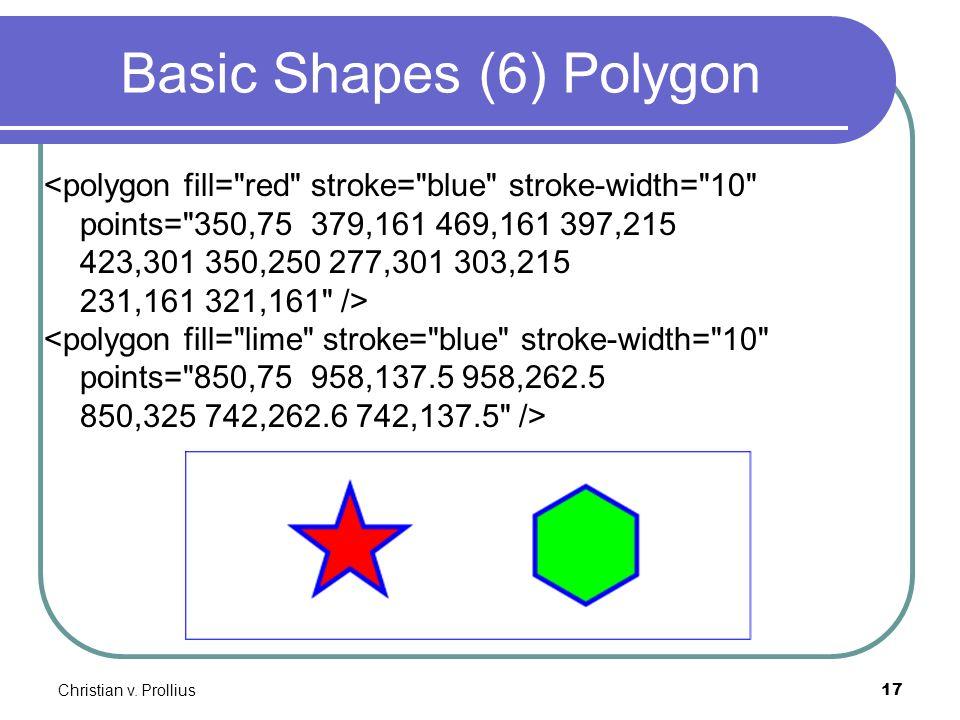 Christian v. Prollius17 Basic Shapes (6) Polygon <polygon fill=
