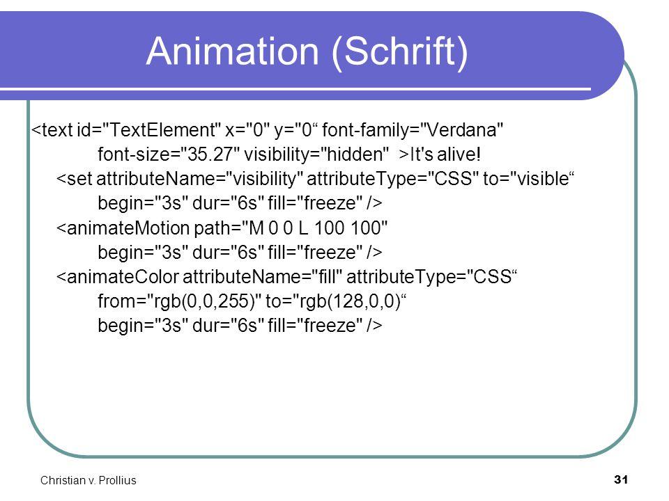 Christian v. Prollius31 Animation (Schrift) <text id=
