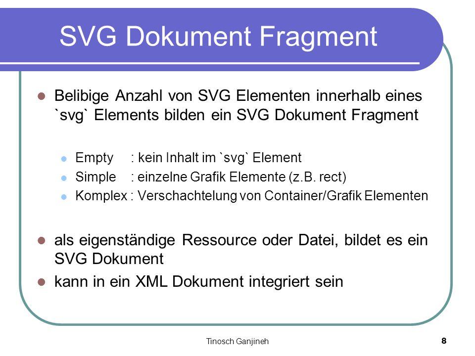 Tinosch Ganjineh8 SVG Dokument Fragment Belibige Anzahl von SVG Elementen innerhalb eines `svg` Elements bilden ein SVG Dokument Fragment Empty : kein