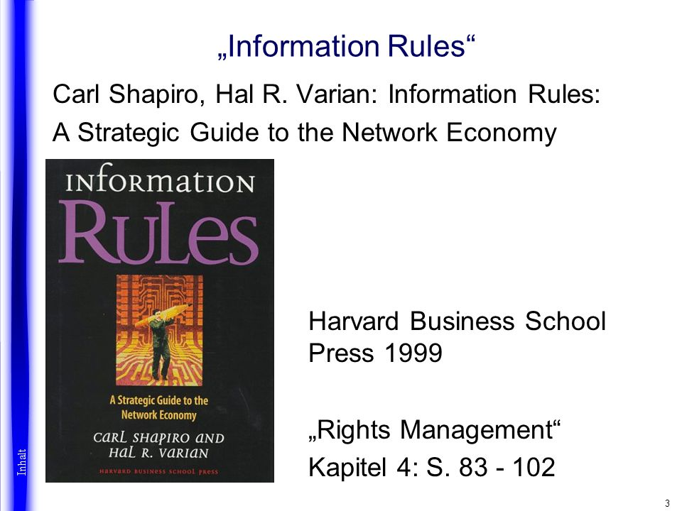 3 Information Rules Carl Shapiro, Hal R.