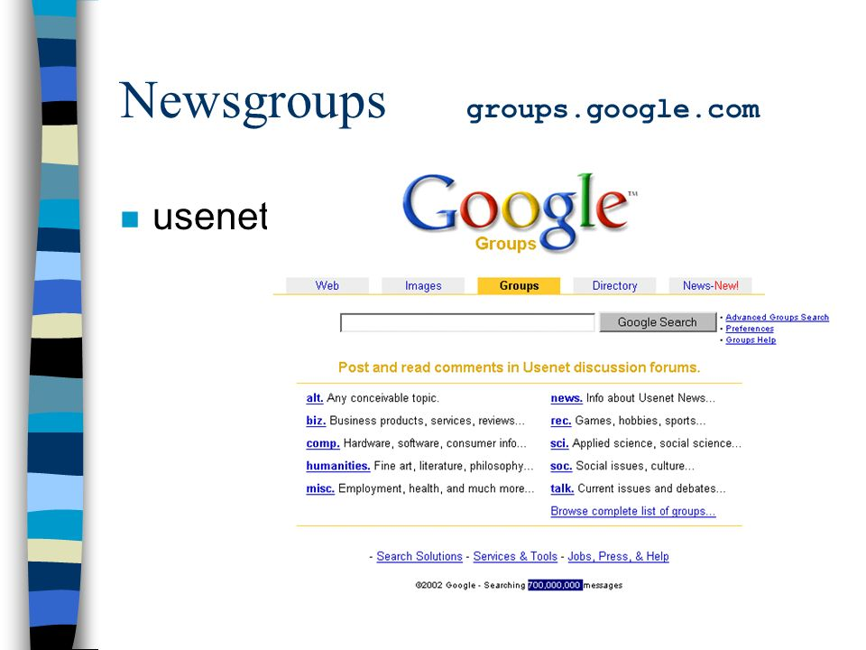 Newsgroups groups.google.com n usenet