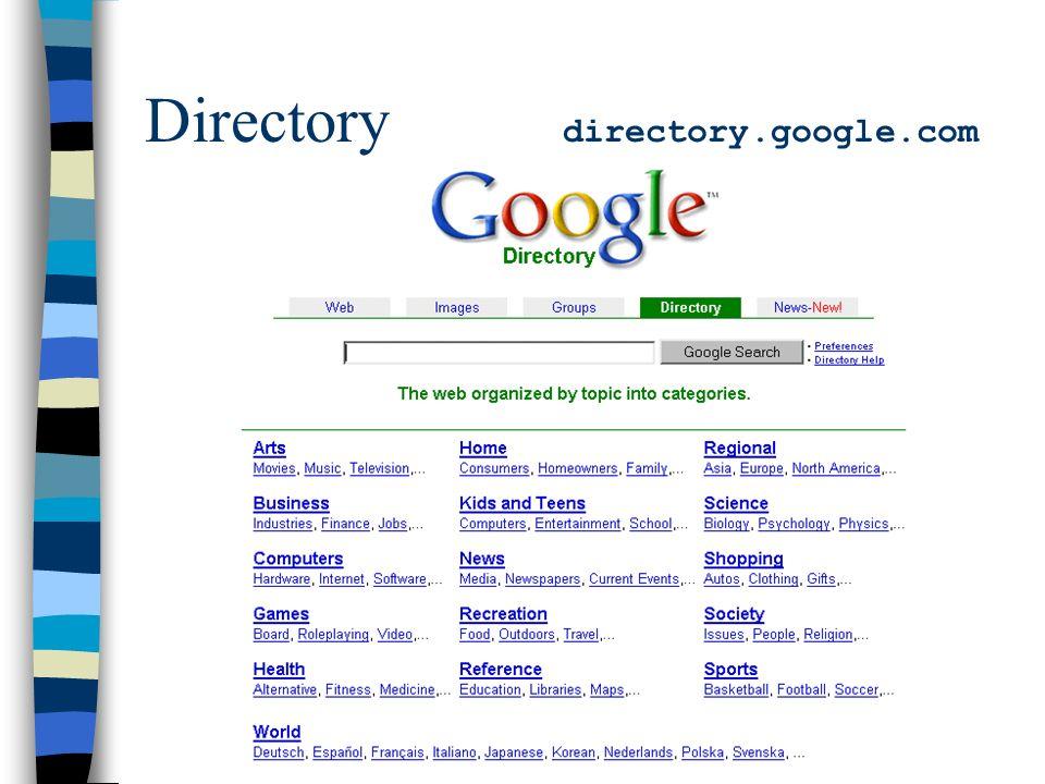 Directory directory.google.com