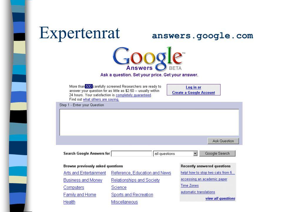 Expertenrat answers.google.com