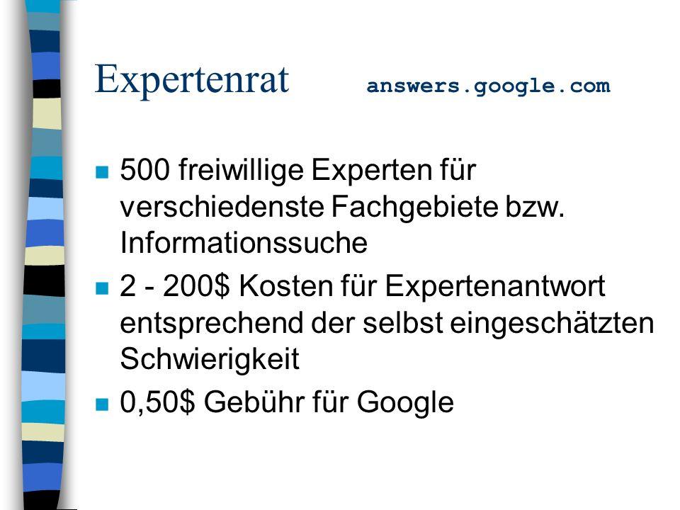 n 500 freiwillige Experten für verschiedenste Fachgebiete bzw.