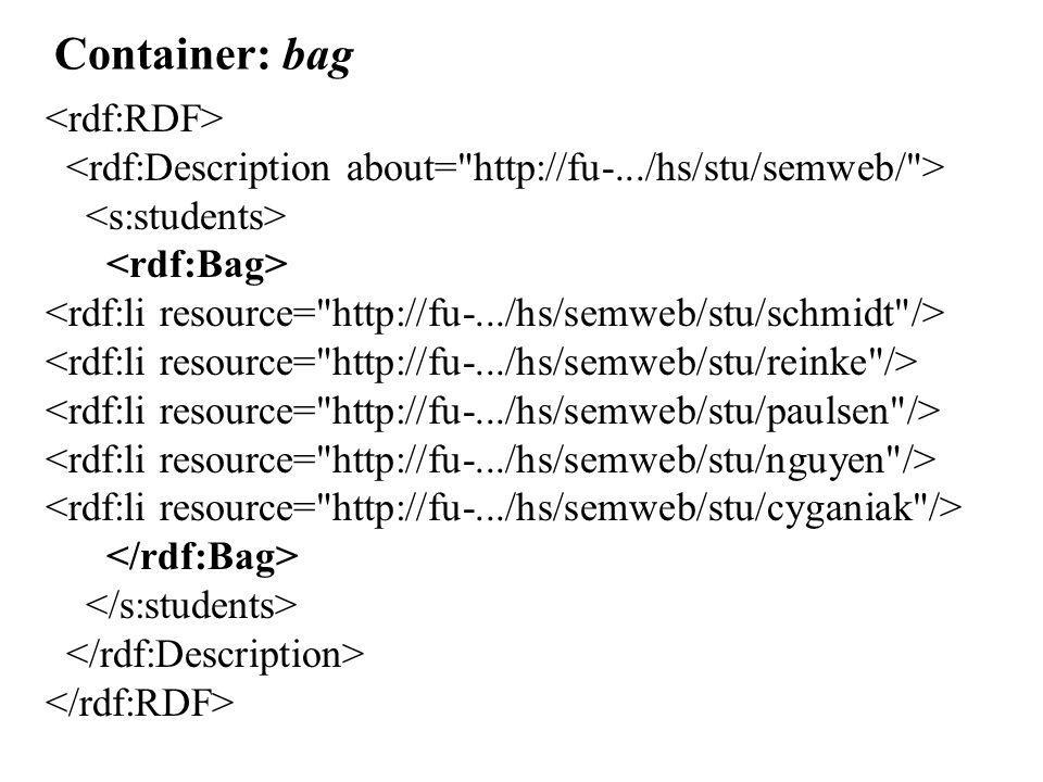 Container: bag