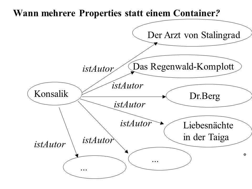Wann mehrere Properties statt einem Container.