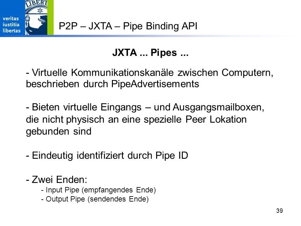 39 JXTA...Pipes...