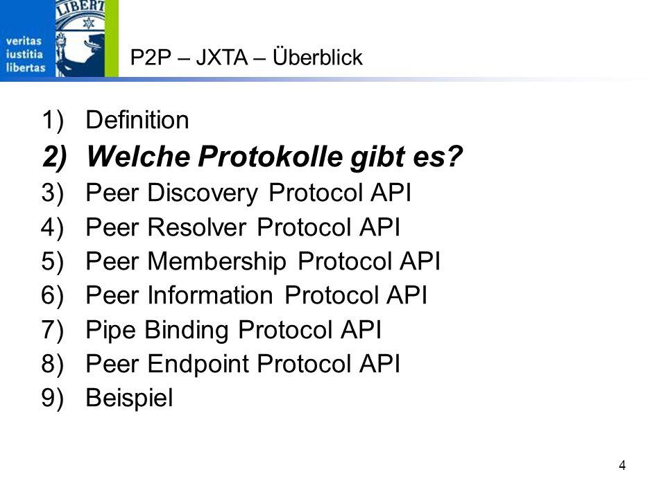 4 1)Definition 2)Welche Protokolle gibt es.
