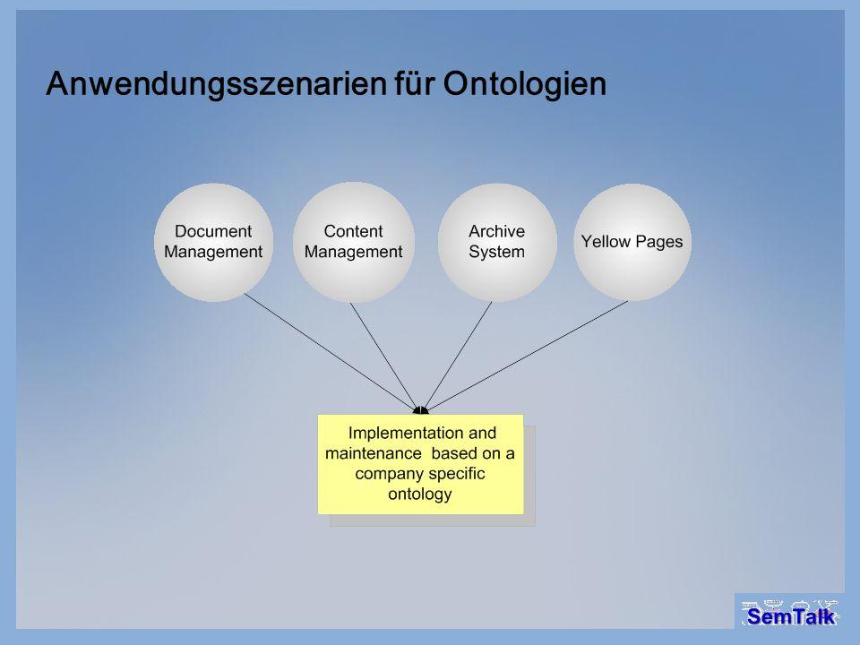 Anwendungsszenarien für Ontologien
