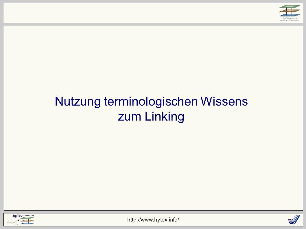 http://www.hytex.info/ Nutzung terminologischen Wissens zum Linking