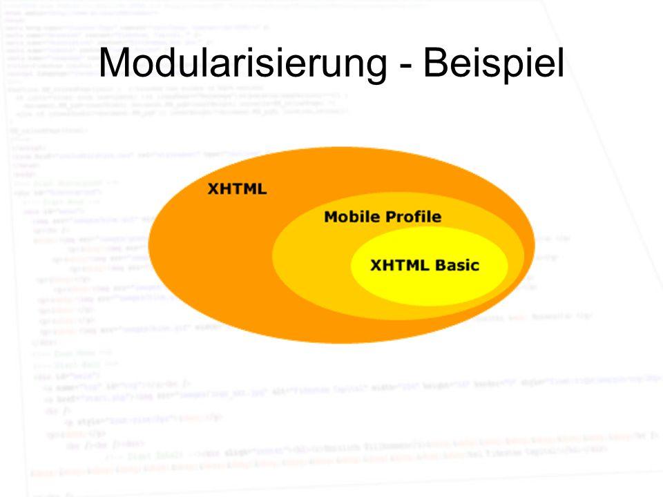 Modularisierung - Beispiel