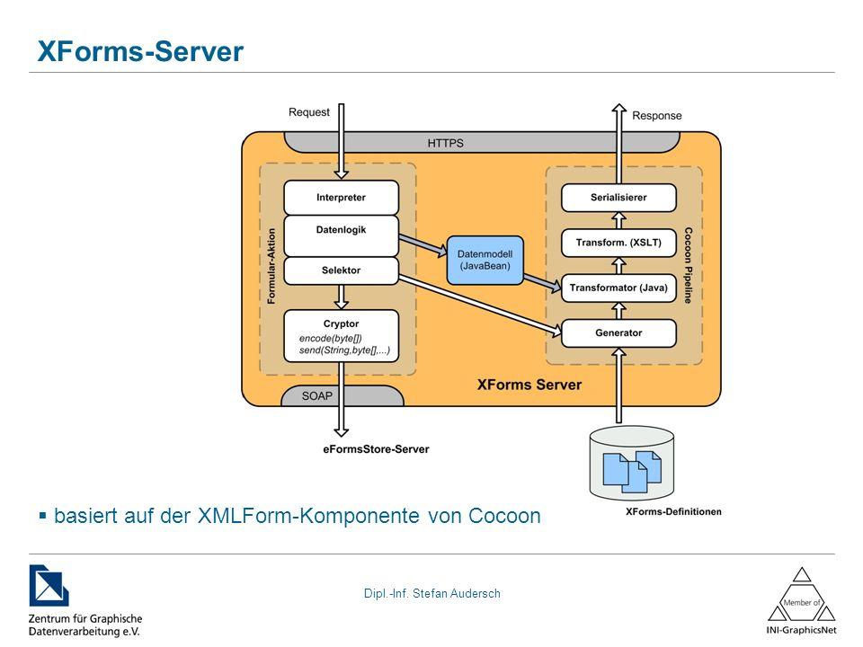 Dipl.-Inf. Stefan Audersch XForms-Server basiert auf der XMLForm-Komponente von Cocoon