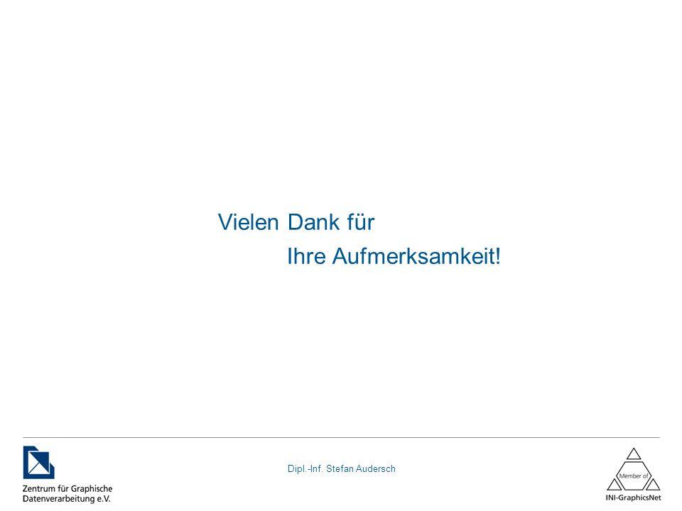 Dipl.-Inf. Stefan Audersch Vielen Dank für Ihre Aufmerksamkeit!