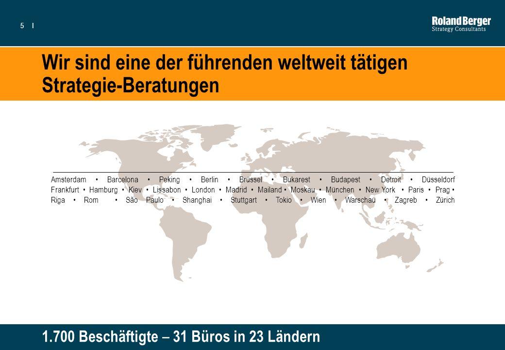 5I Wir sind eine der führenden weltweit tätigen Strategie-Beratungen Amsterdam Barcelona Peking Berlin Brüssel Bukarest Budapest Detroit Düsseldorf Fr