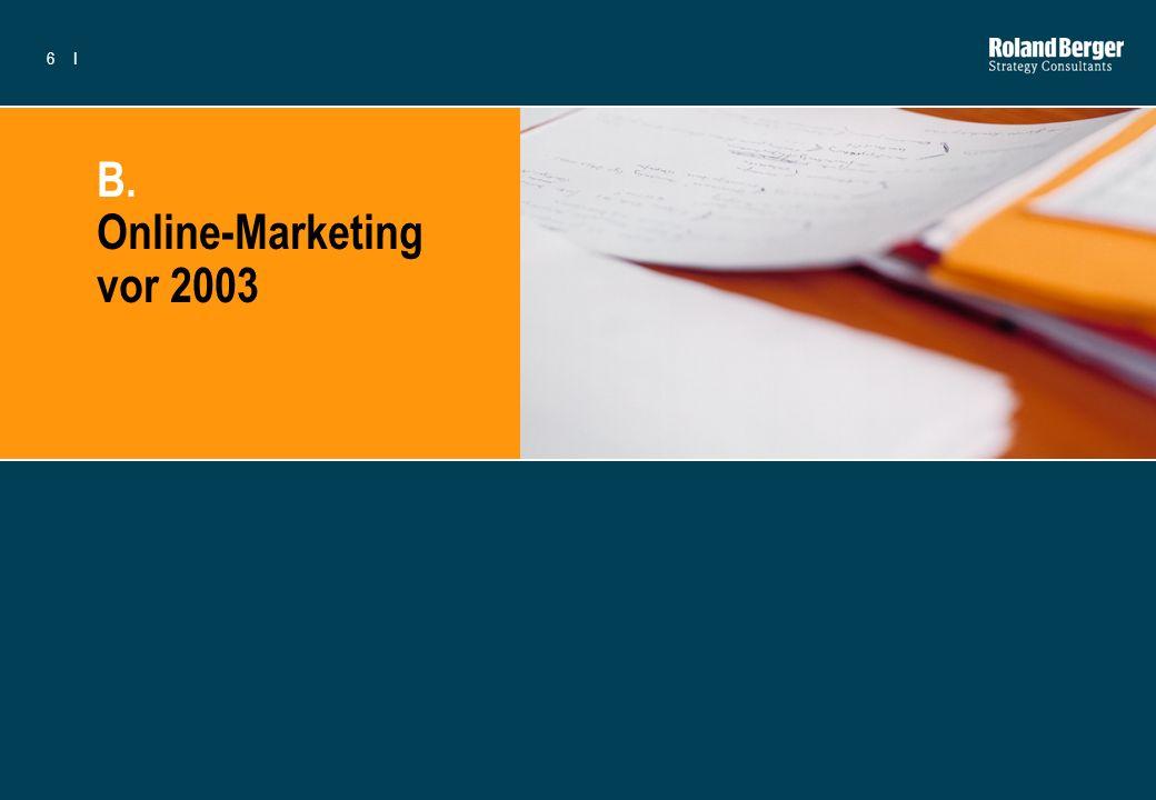 6I B. Online-Marketing vor 2003