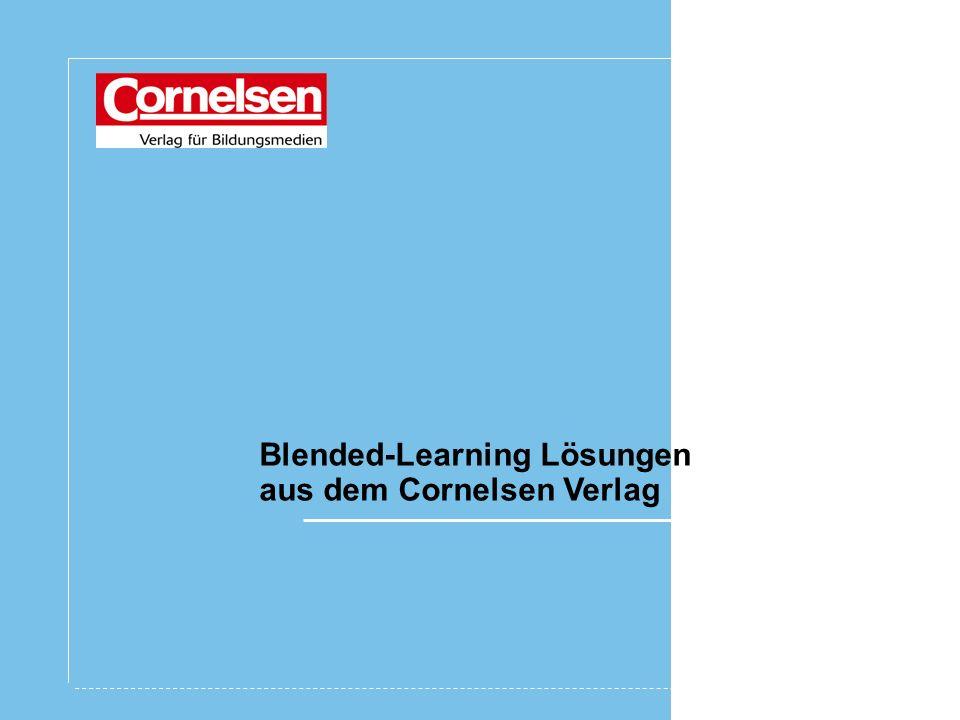 Blended-Learning Lösungen aus dem Cornelsen Verlag