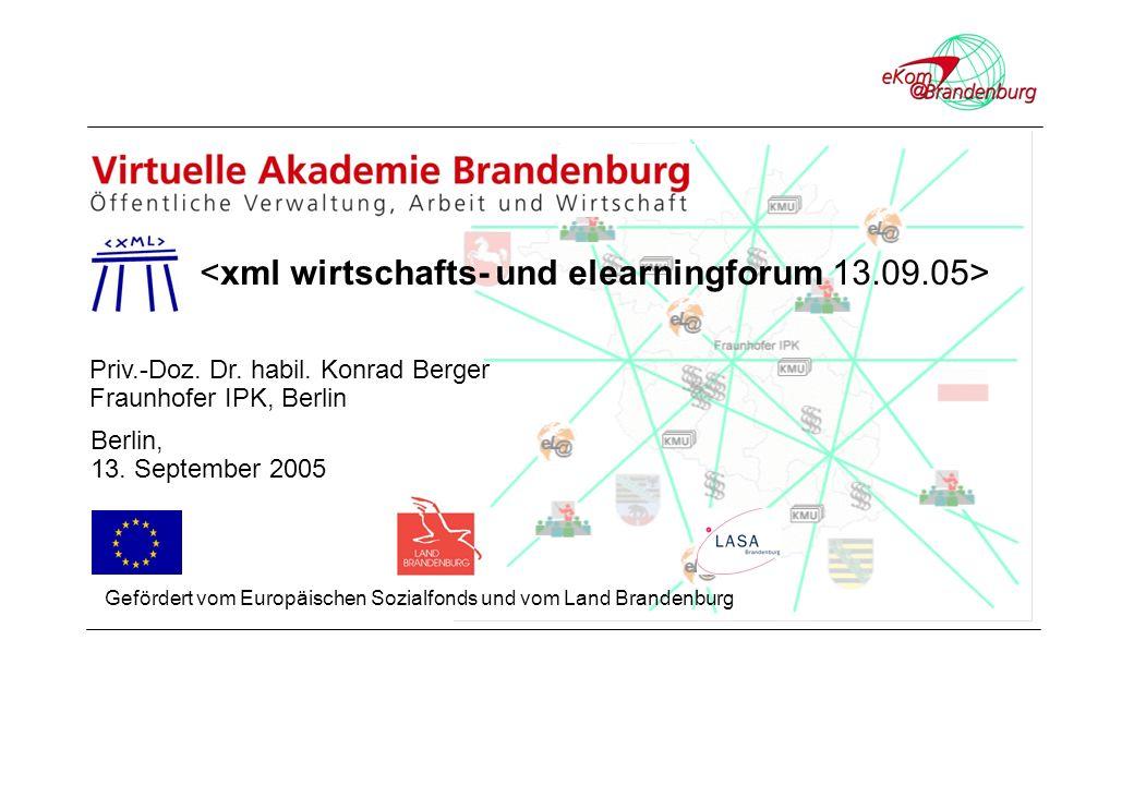 Priv.-Doz. Dr. habil. Konrad Berger Fraunhofer IPK, Berlin Berlin, 13.
