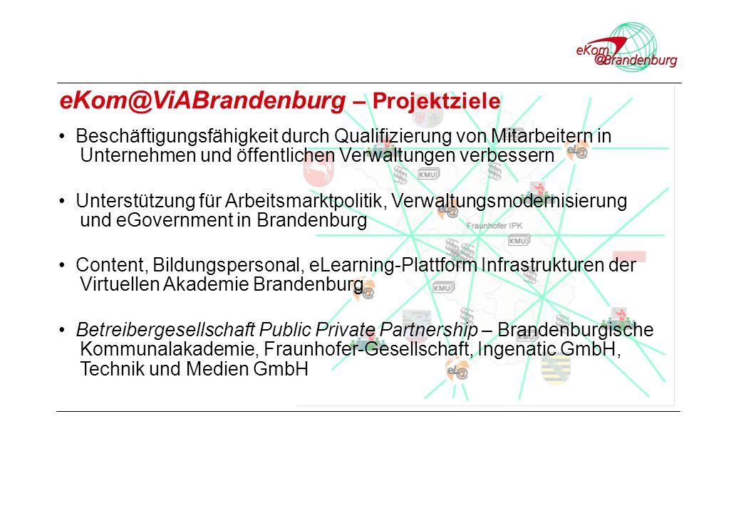 Betreibergesellschaft Public Private Partnership – Brandenburgische Kommunalakademie, Fraunhofer-Gesellschaft, Ingenatic GmbH, Technik und Medien GmbH