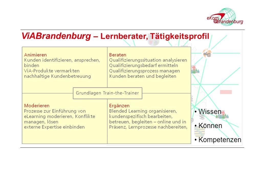 Wissen Können Kompetenzen ViABrandenburg – Lernberater, Tätigkeitsprofil