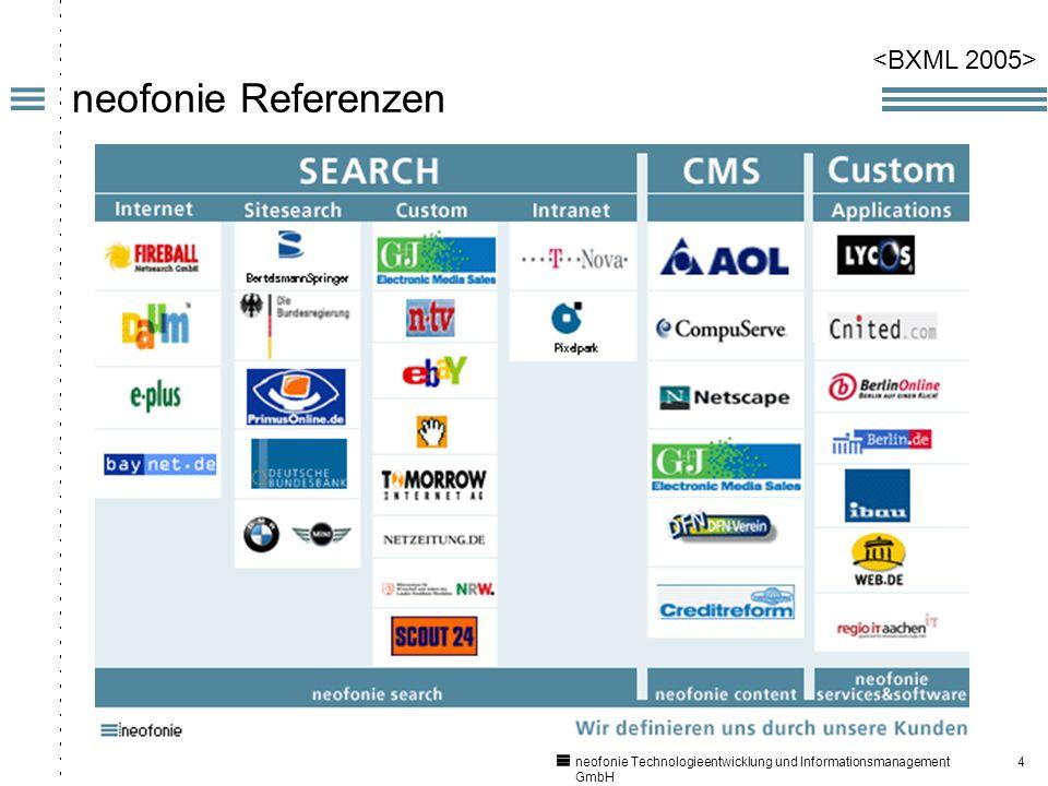 4 neofonie Technologieentwicklung und Informationsmanagement GmbH neofonie Referenzen