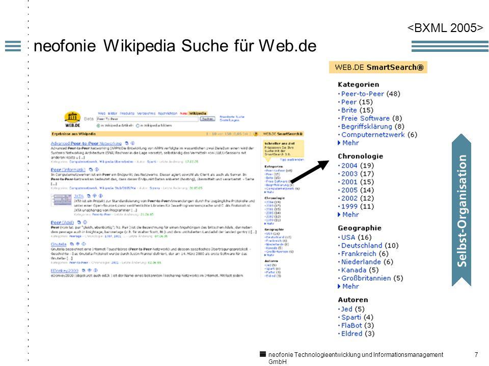 7 neofonie Technologieentwicklung und Informationsmanagement GmbH neofonie Wikipedia Suche für Web.de