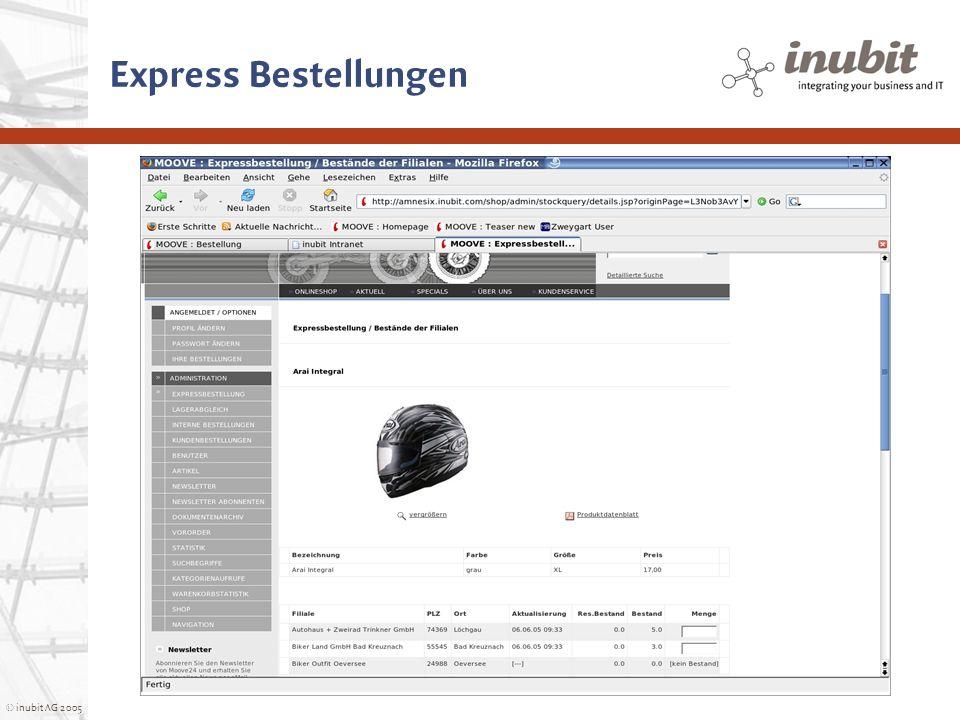 © inubit AG 2005 Express Bestellungen