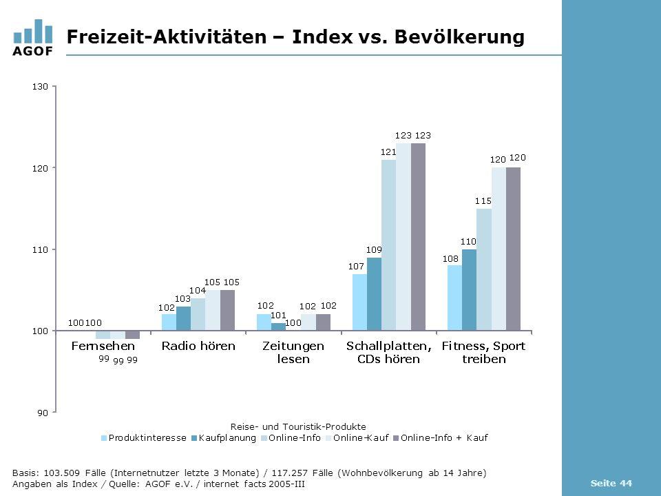 Seite 44 Freizeit-Aktivitäten – Index vs.