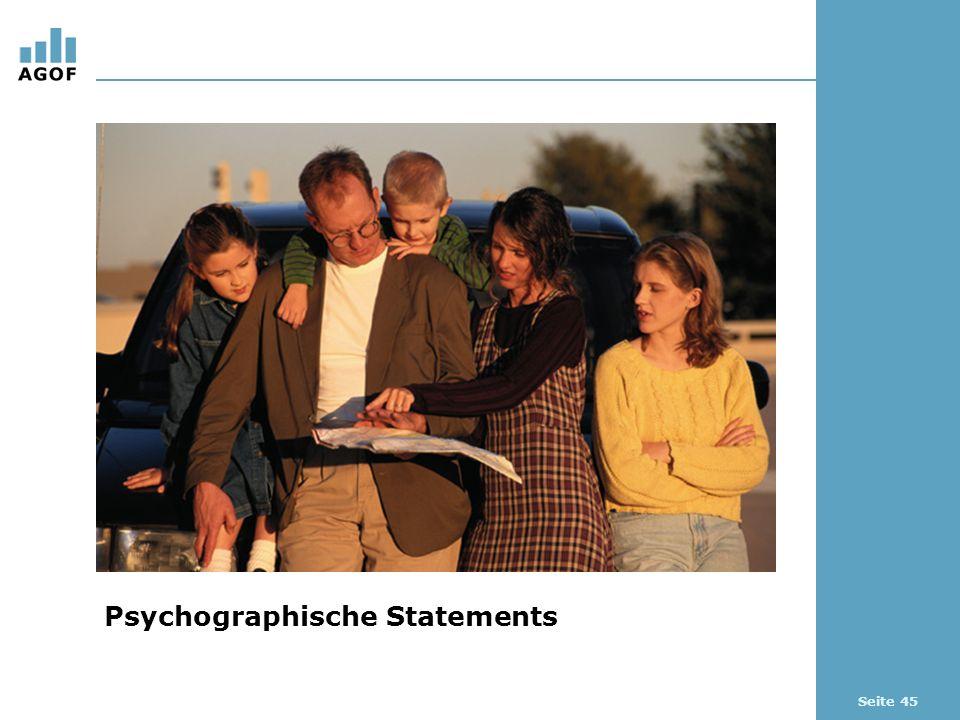 Seite 45 Psychographische Statements