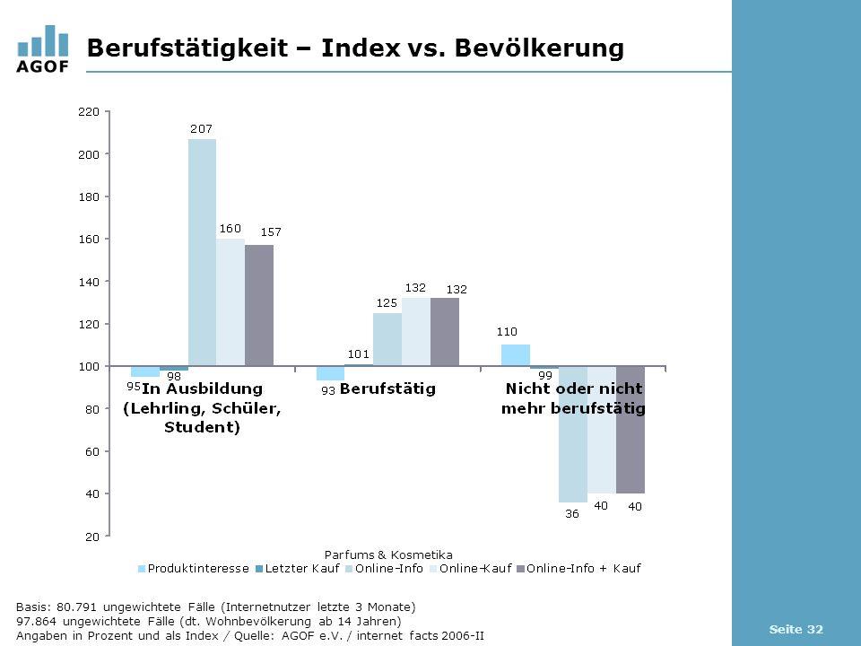 Seite 32 Berufstätigkeit – Index vs.
