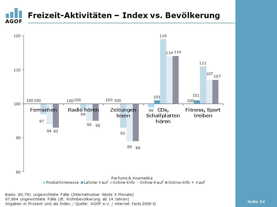 Seite 52 Freizeit-Aktivitäten – Index vs.
