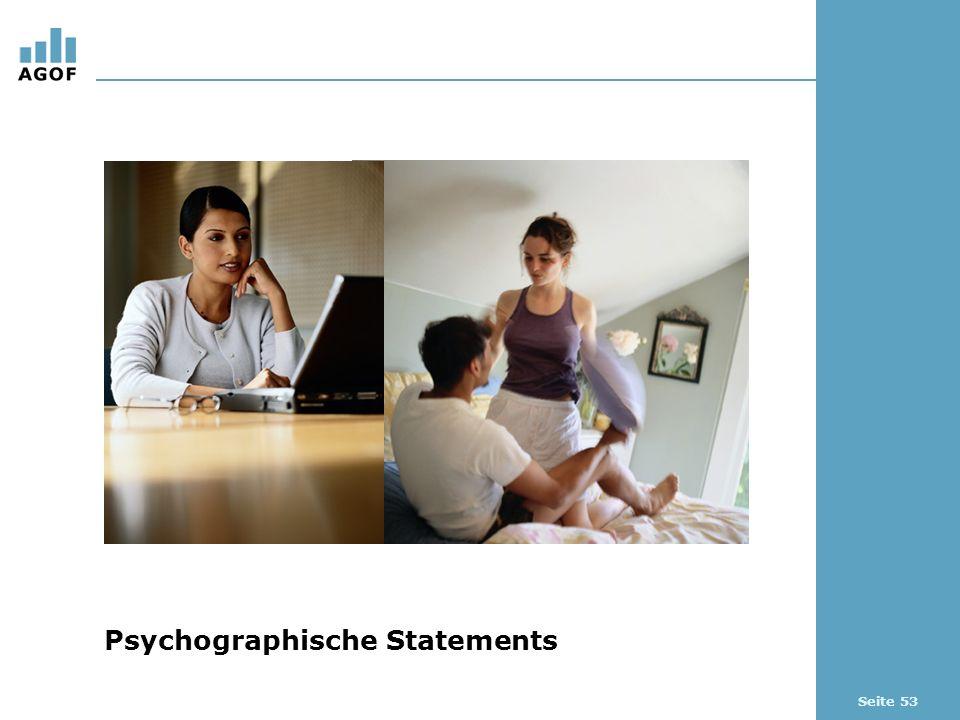 Seite 53 Psychographische Statements