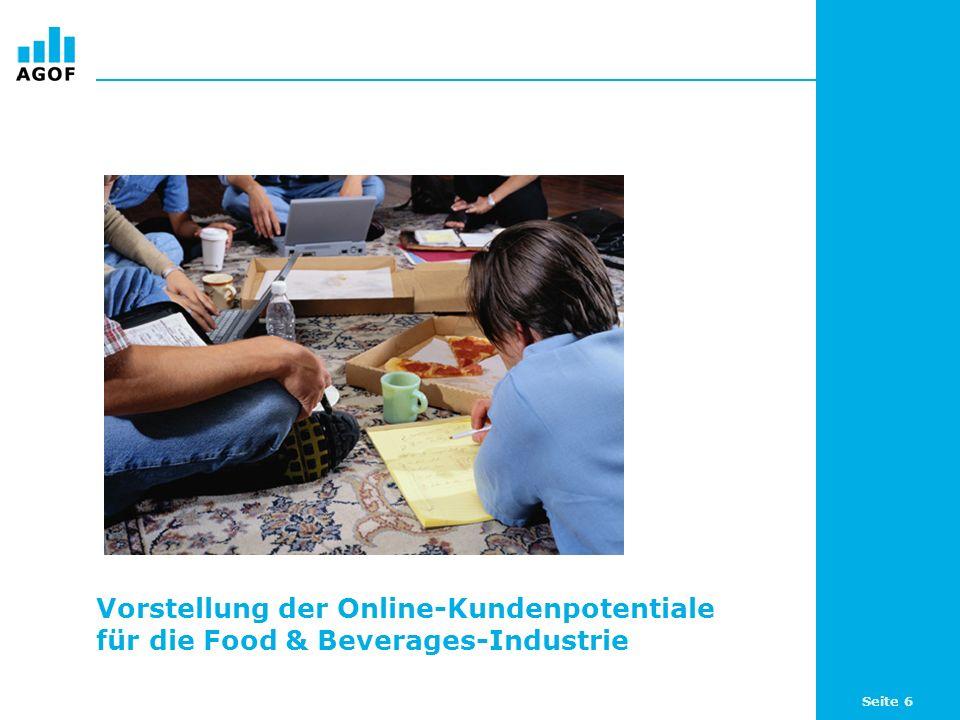 Seite 6 Vorstellung der Online-Kundenpotentiale für die Food & Beverages-Industrie