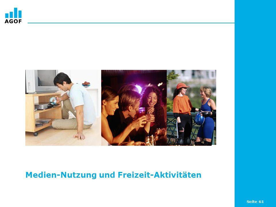 Seite 61 Medien-Nutzung und Freizeit-Aktivitäten
