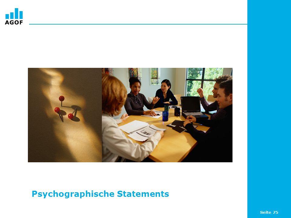Seite 75 Psychographische Statements