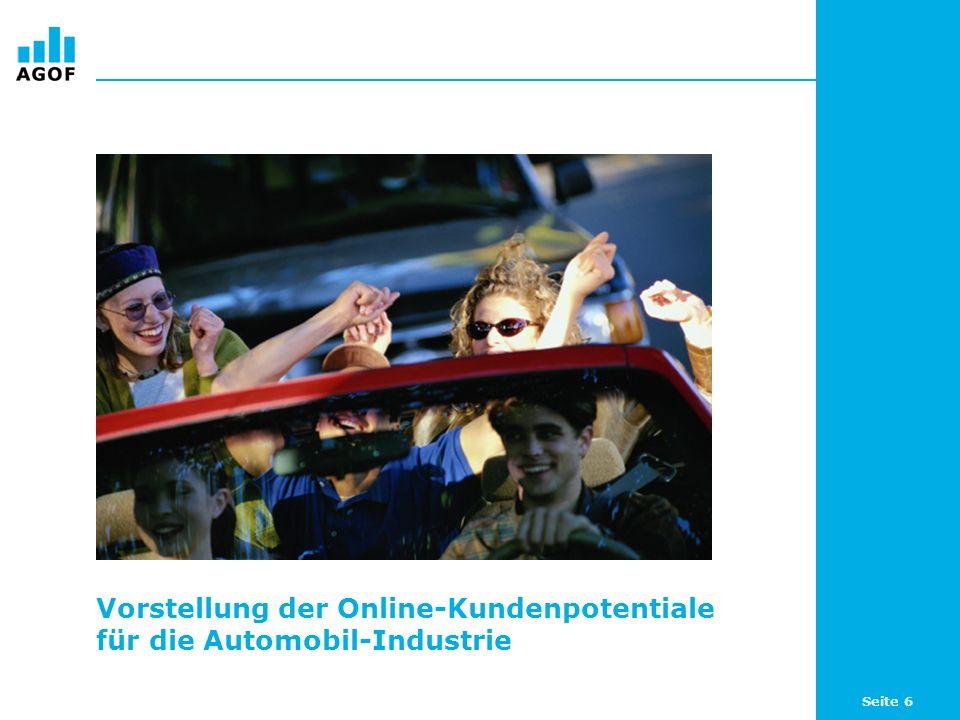 Seite 7 Online-Potentiale rund um Automobile Das Internet bietet der Automobil-Industrie beachtliche Potentiale und damit eine reichweitenstarke Plattform zur Zielgruppenansprache: 37,7 Prozent (15,41 Millionen) der Internetnutzer (WNK) sind an Autos interessiert.