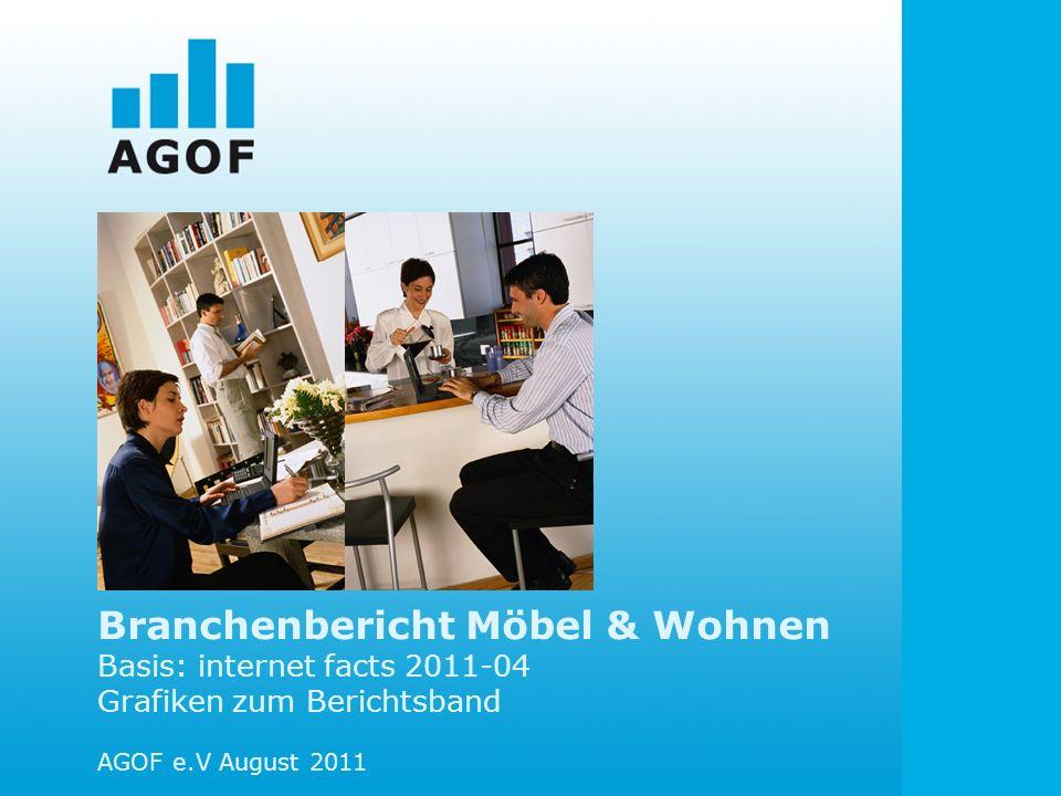 Branchenbericht Möbel & Wohnen Basis: internet facts 2011-04 Grafiken zum Berichtsband AGOF e.V August 2011