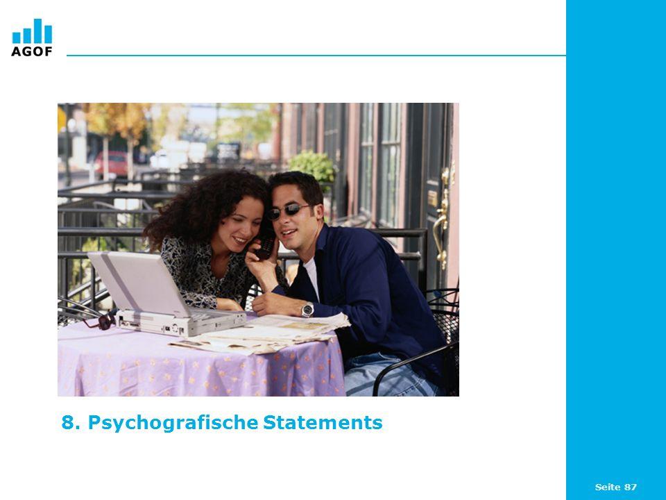 Seite 87 8. Psychografische Statements