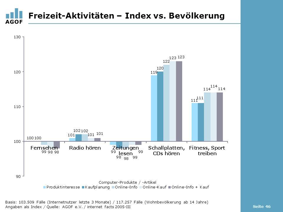 Seite 46 Freizeit-Aktivitäten – Index vs.