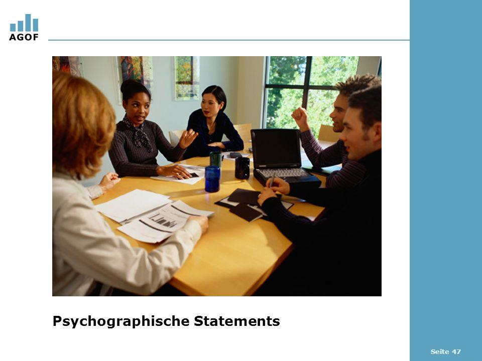 Seite 47 Psychographische Statements