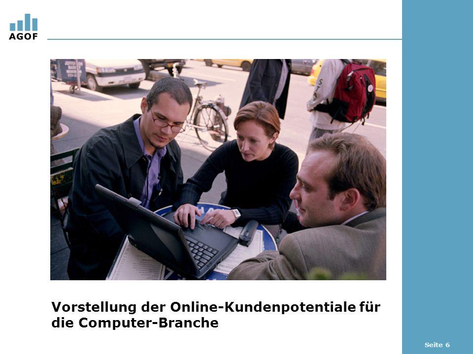 Seite 6 Vorstellung der Online-Kundenpotentiale für die Computer-Branche